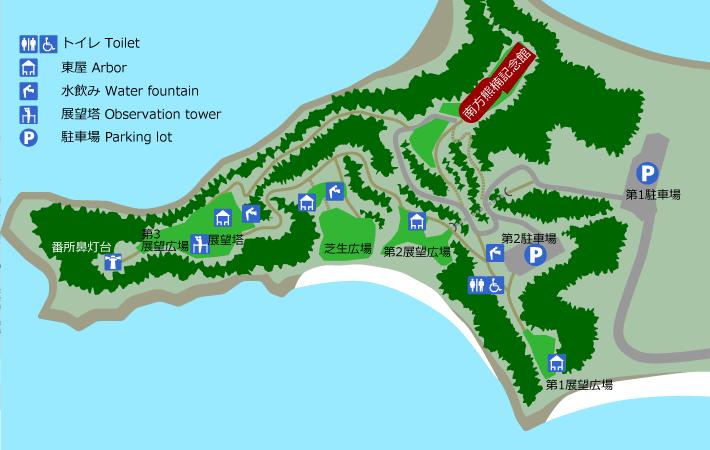 番所山公園マップ