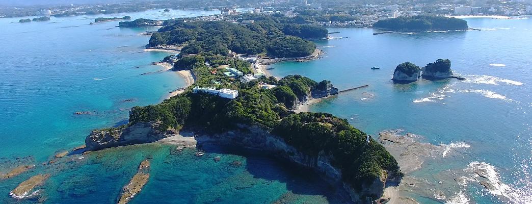 南方熊楠記念館と番所崎・円月島