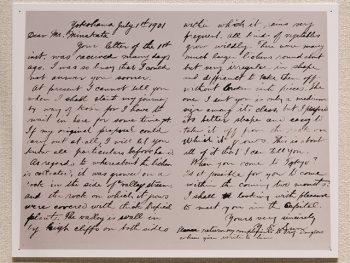 <strong>熊楠宛 孫文書簡</strong><br> 孫文からの書簡は、八通が知られている。<br> この写真は、そのうちの最後の孫文からの手紙である。